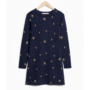 & Other Stories Night Sky Jacquard Dress